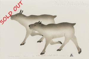 'Galloping Caribou' by Malaya Akulukjuk