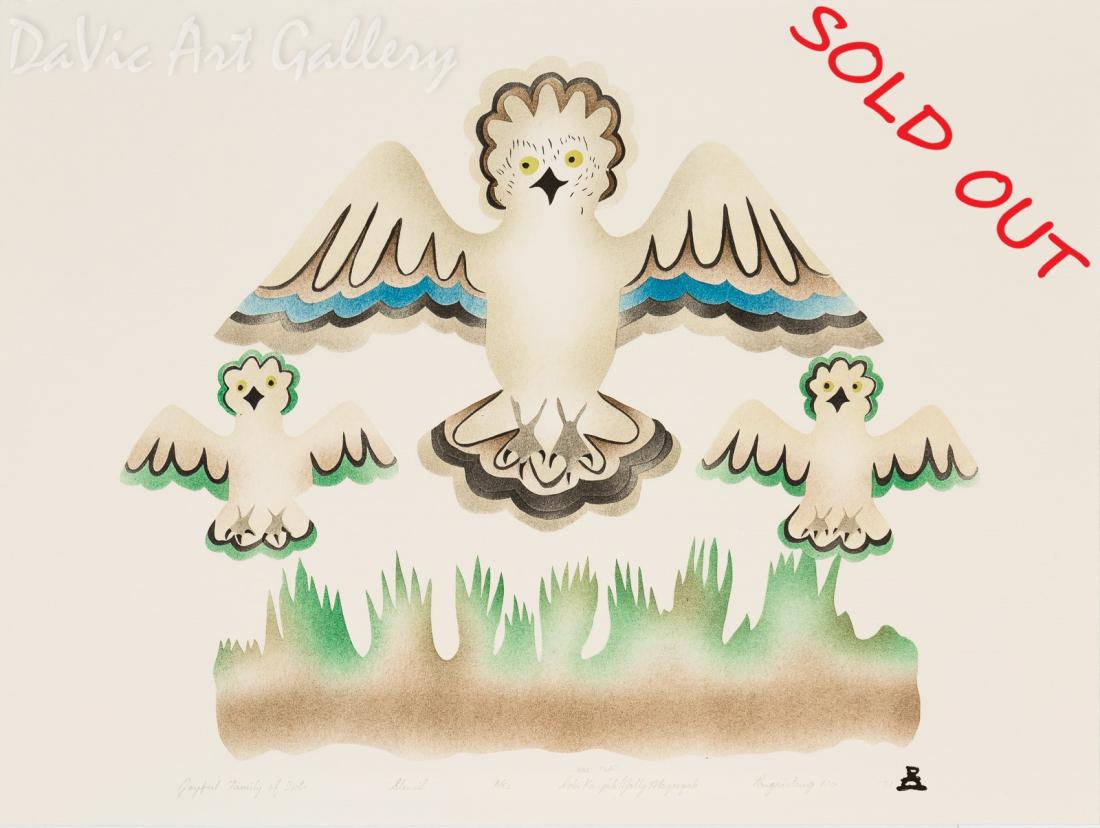 'Joyful Family of Owls' by Ida Karpik