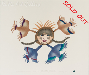 'Birds Greeting the Tattoo Woman' by Annie Pitsiulak