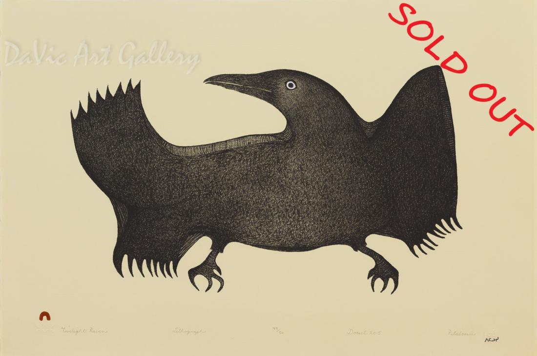 'Twilight Raven' by Pitaloosie Saila