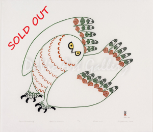 'Uppik Quviasuttuq (Festive Owl)' by Ningeokuluk Teevee