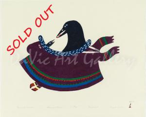 'Ravens in Amautik' by Ningeokuluk Teevee