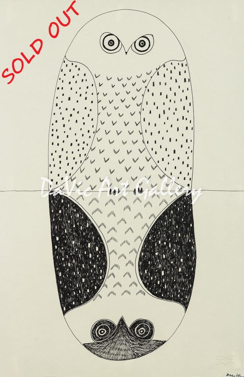'Owl Reflection' by Ningeokuluk Teevee