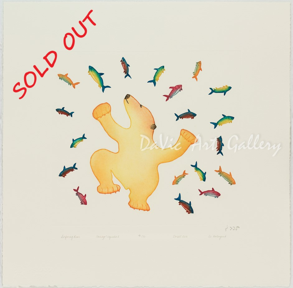 """Surfacing Bear"" by Cee Pootoogook - SOLD"