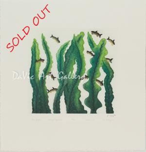 """""""Kelp Garden"""" by Cee Pootoogook - SOLD"""