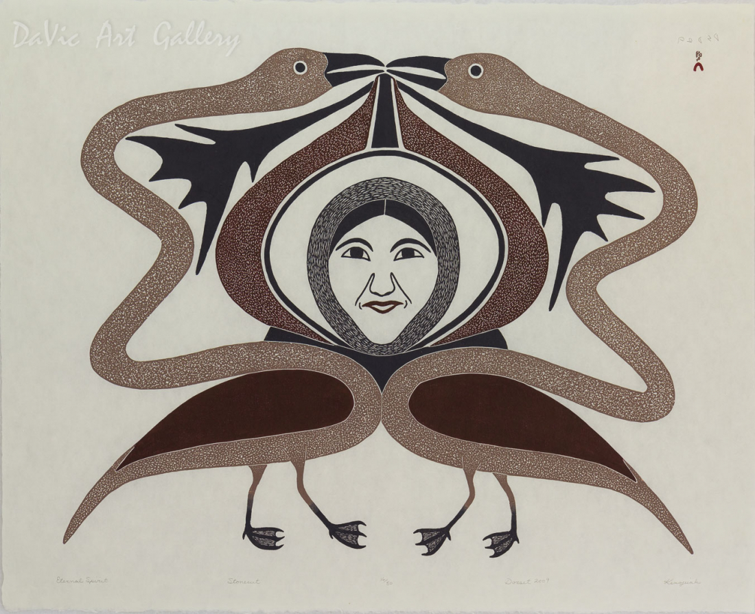 'Eternal Spirit' by Kenojuak Ashevak, RCA, CC