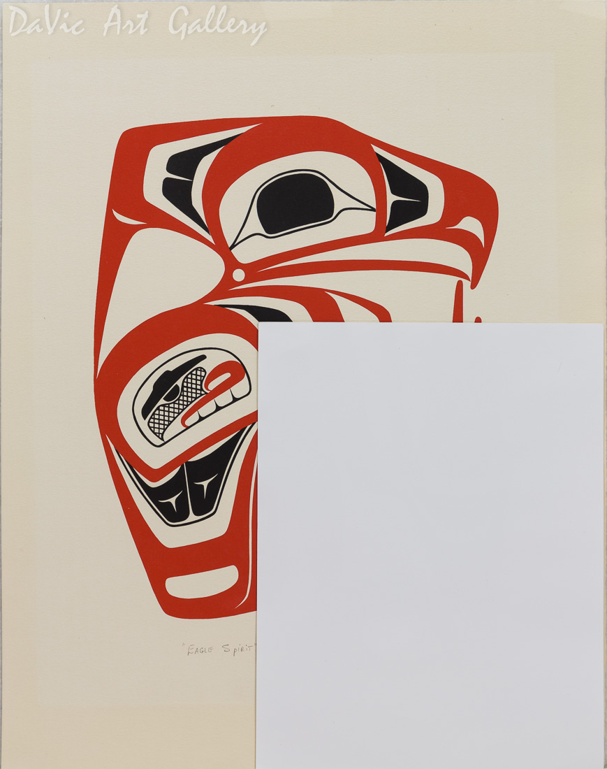 'Eagle Spirit' by Norman Tait - size reference with letter size paper