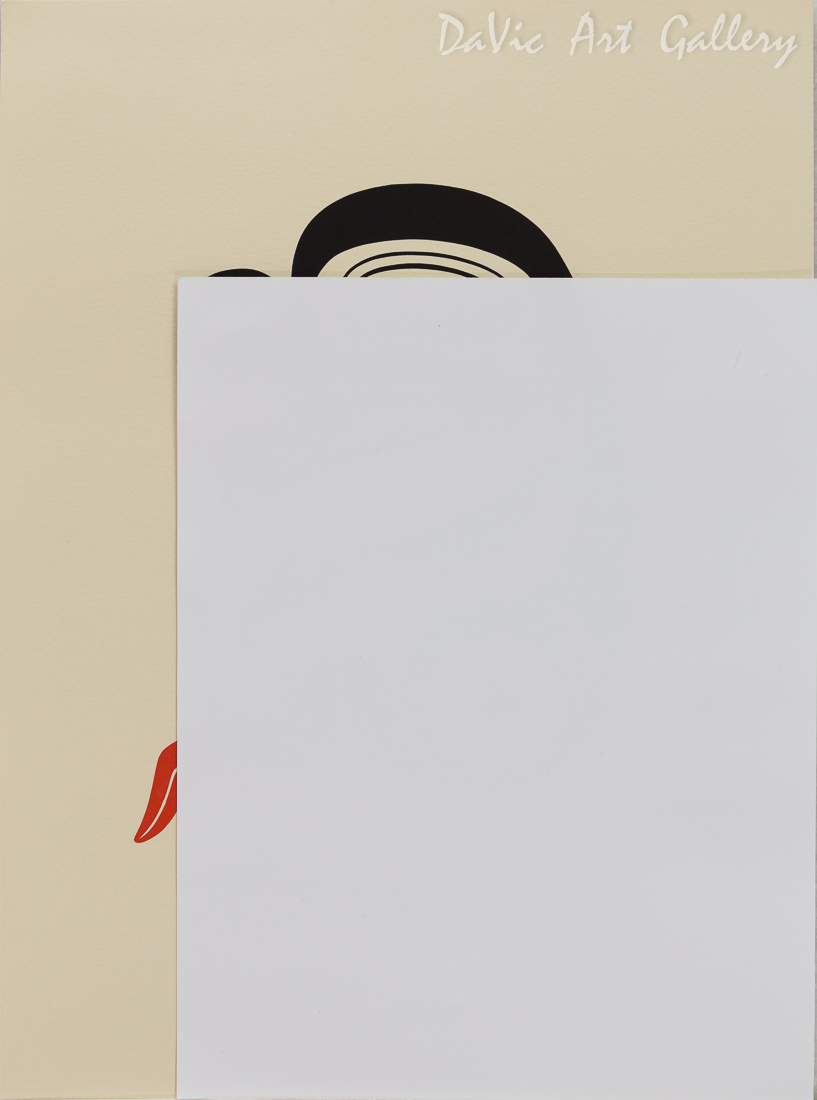 'Story Teller' by Norman Tait - size reference with letter size paper