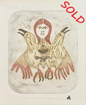 'Ravens Call Her Spirit' by Lipa Pitsiulak