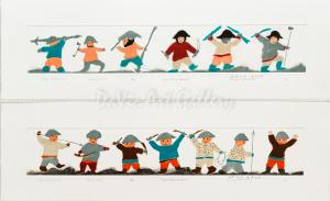 'Happy Warrior I & II' by Elisapee Ishulutaq, OC - Inuit - Pangnirtung 2011