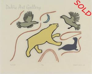 'Polar Bear' by Agnes Nanogak Goose - Inuit Art - Ulukhaktok (Ho