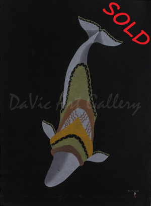 Whale Sounding by Tim Pitsiulak - Cape Dorset