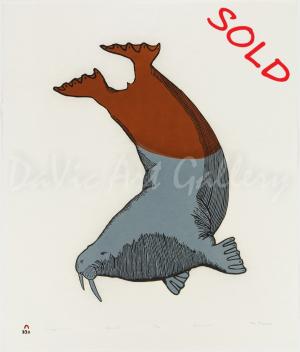 'Diving Walrus' by Tim Pitsiulak