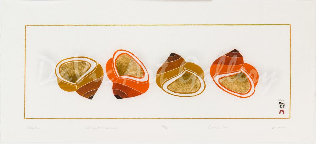 'Siupiru (Shells)' by Qavavau Manumie - Cape Dorset