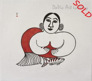 """Sedna With Fish"" by Pitaloosie Saila"