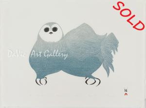 'Owl in Arctic Mist' by Pitaloosie Saila