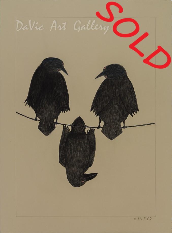'Crows' by Ohotaq Mikkigak