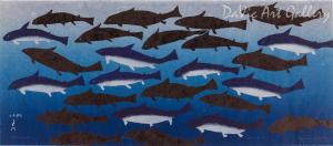 Iqalukjuat (Blue Sharks) by Papiara Tukiki