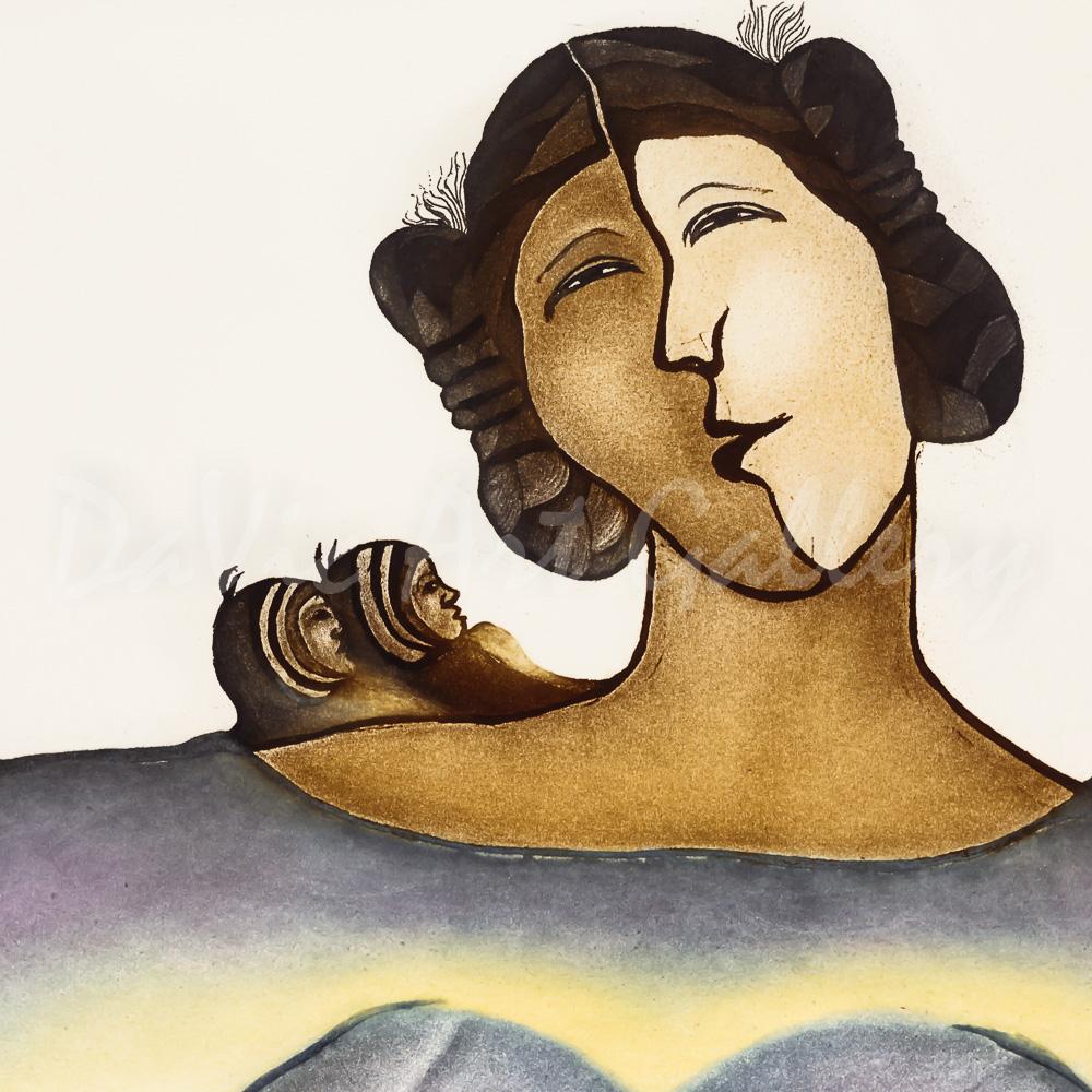 'Marruliak (Twins)' by Pitaloosie Saila - Inuit Art - Cape Dorset 2014