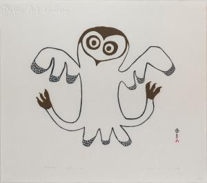 'Winter Owl' by Lucy Qinnuayuak