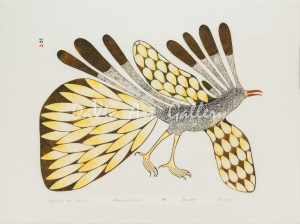 'Large Bird from the Sun' by Kenojuak Ashevak , RCA, CC - Inuit Art from Cape Dorset 1979 print collection presented by DaVic Art Gallery
