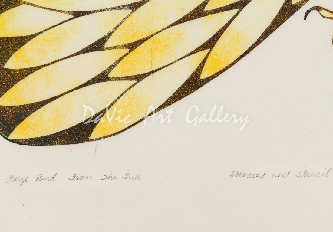 'Large Bird from the Sun' by Kenojuak Ashevak , RCA, CC - Cape Dorset 1979