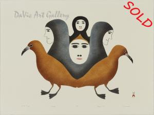 """Spirits Emerge"" by Kingmeata Etidlooie - Inuit - Cape Dorset 1987"