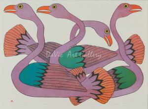 'Swans at Sunset' by Kenojuak Ashevak