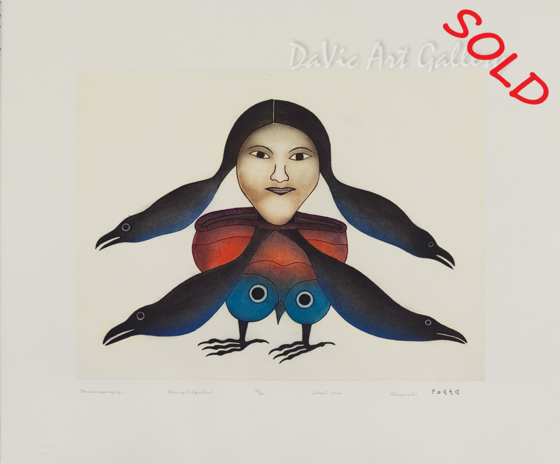 Timmiaruqsimajuq (Bird Woman Transformation) by Kenojuak Ashevak - Inuit Art - Cape Dorset 2002