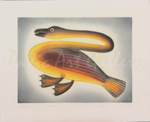 'Long Necked Goose' by Kenojuak Ashevak - Cape Dorset