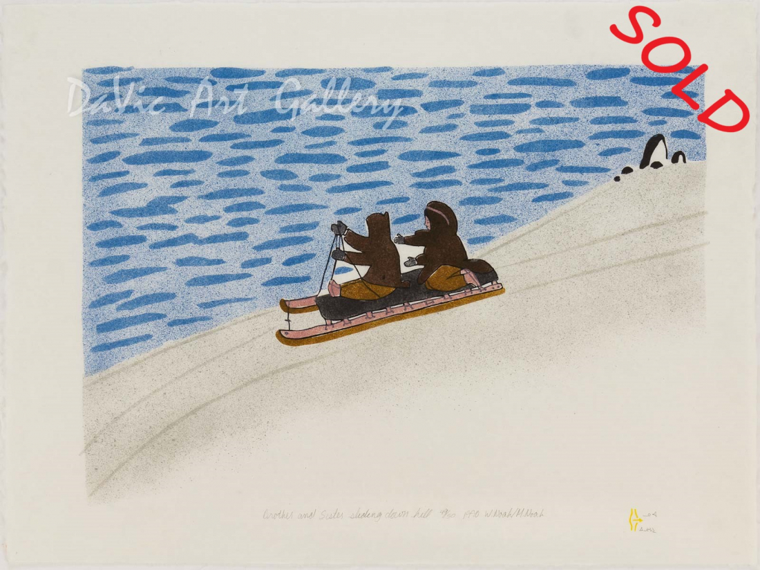 'Brother and Sister Sliding Down Hill' by William Noah