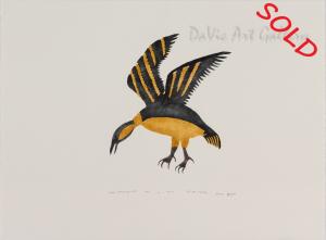 """Kiviup Nahaujaqmiuta (Hovering bird)"" by Philippa Iksiraq - Baker Lake 2001"