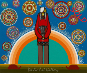 'Turtle Island Reverence' by First Nations Ojibwe artist Leland Bell