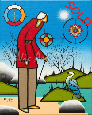 'Calling' by First Nations Ojibwe artist Leland Bell