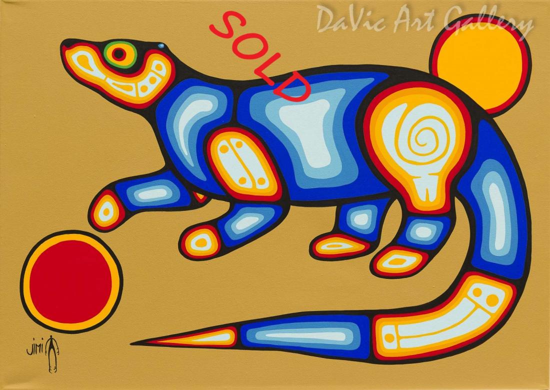 'Otter' by First Nations Ojibwe artist Jim Oskineegish
