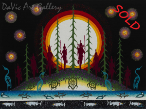 'Hunters and Gatherers' by First Nations Anishinaabe artist James Jacko