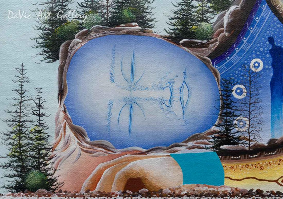 'Little La Cloche' Mishmountain by James Simon Mishibinijima