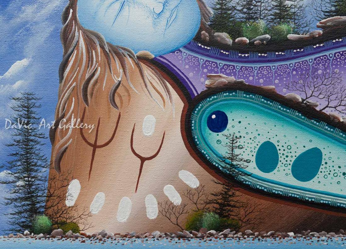 'Wolf Creek' Mishmountain by James Simon Mishibinijima