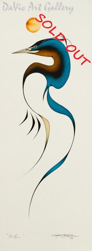 'Blue Heron' by Garnet Tobacco