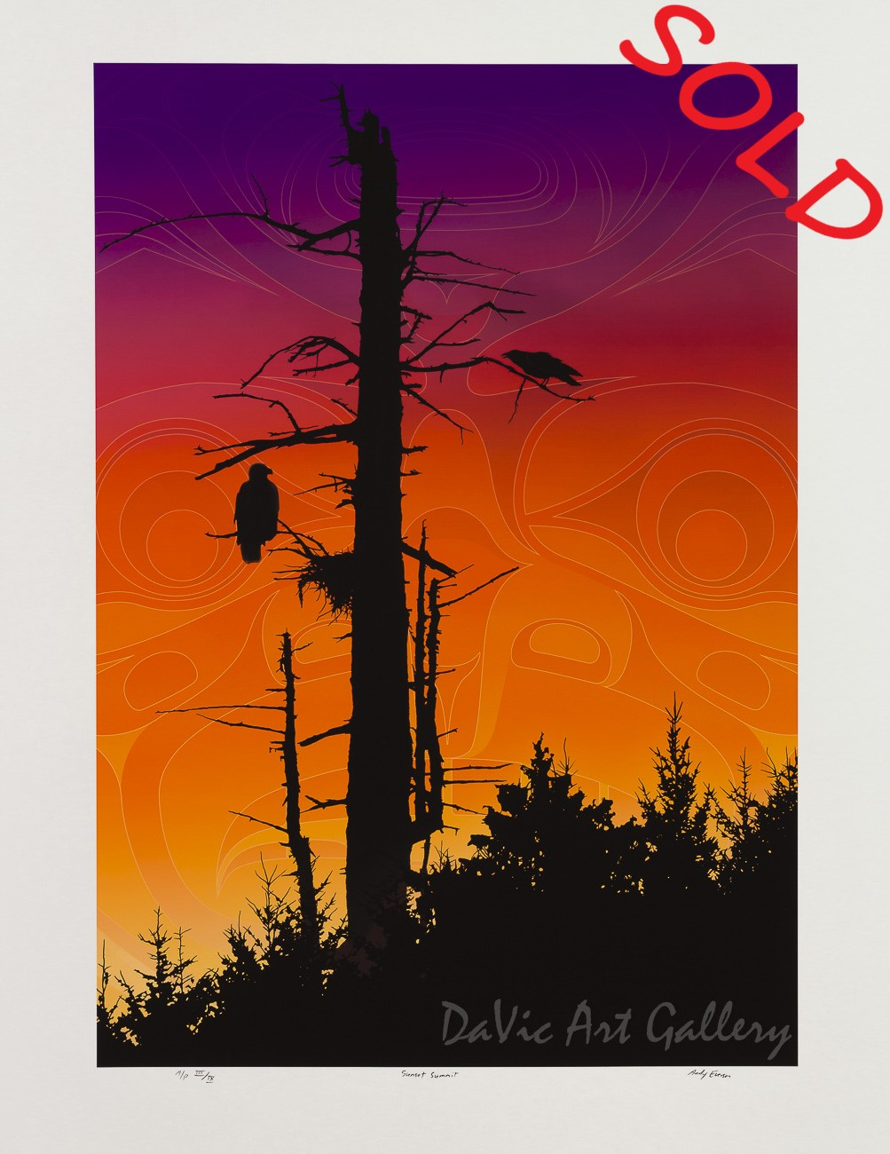 Sunset Summit by Andy Everson 2009 - Northwest Coast - Kwakwaka'wakw