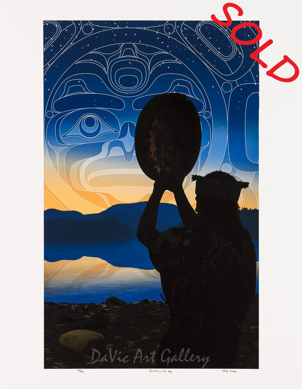 Greeting the Day by Andy Everson 2011 - Northwest Coast - Kwakwaka'wakw