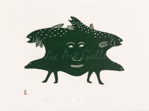 """Shaman's Journey"" by Kakulu Saggiaktok - Inuit - Cape Dorset 1995"