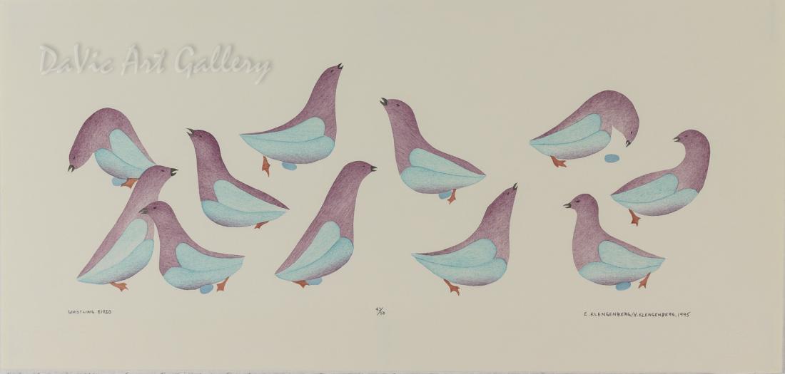 'Whistling Birds' by Elsie Klengenberg - Inuit Art - Ulukhaktok (Holman) 1995