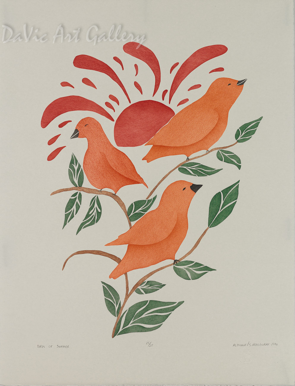 'Birds of Summer' by Beatrice Algiuna - Inuit Art - Ulukhaktok (Holman) 1996