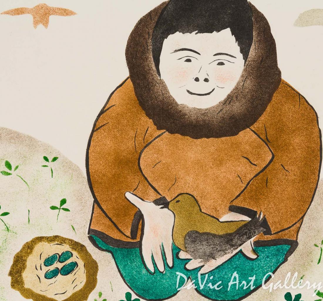 'A Gentle Friend' by Annie Kilabuk - Inuit - Pangnirtung 2002