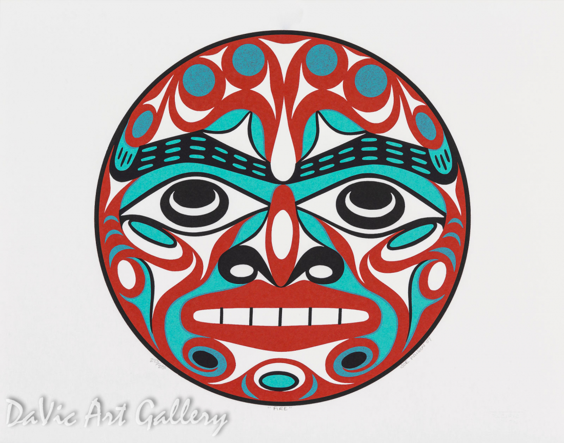 Elements of The Earth - Fire by Joseph Wilson 2007 - Northwest Coast - Coast Salish