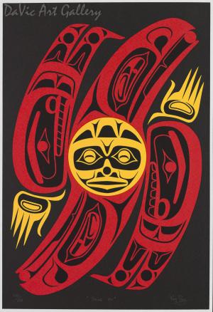 Shine On by Susan Point 1996 - Northwest Coast - Coast Salish