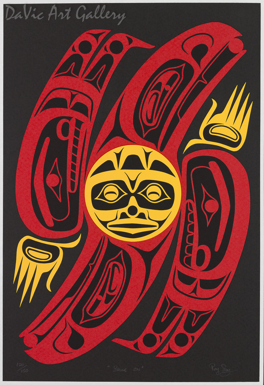 Shine On by Susan Point 1996 - Northwest Coast - Coast Salish