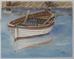 Docked Rowboat