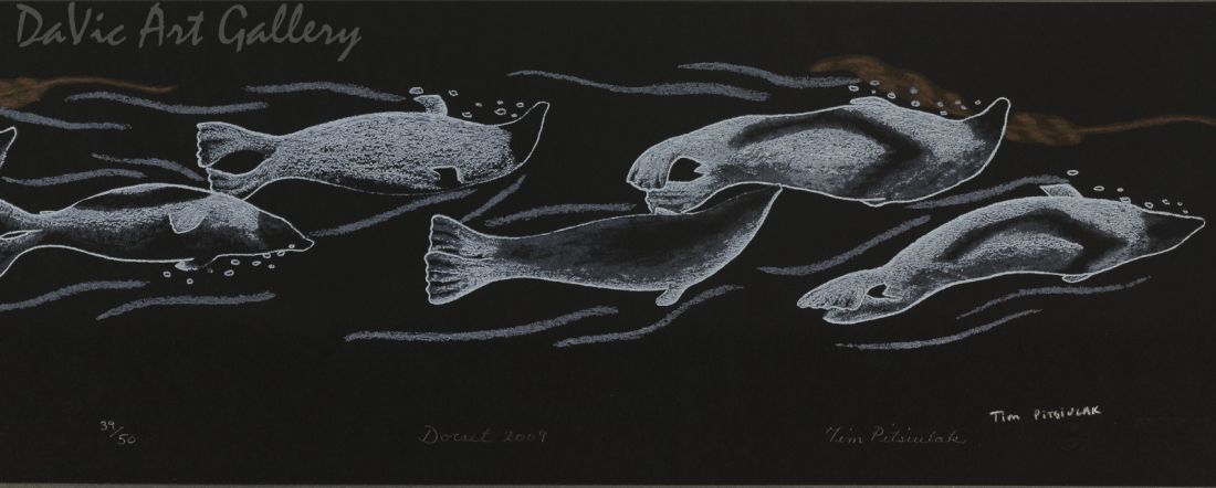 'Siupiru (Shells)' by Qavavau Manumie - Cape Dorset 2012
